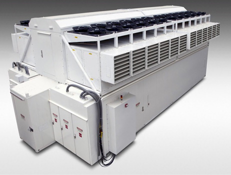 Ecopod module with it own integrated cooling devices by HP.