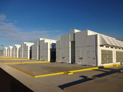 "Microsoft ""roofless"" data center, Boydton, Virginia (2013)."