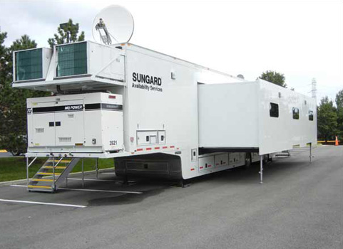 Sungard's mobile center (truck).